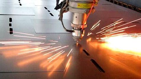 布洛尔光纤激光切割机不锈钢1mm厚度圆切割试机