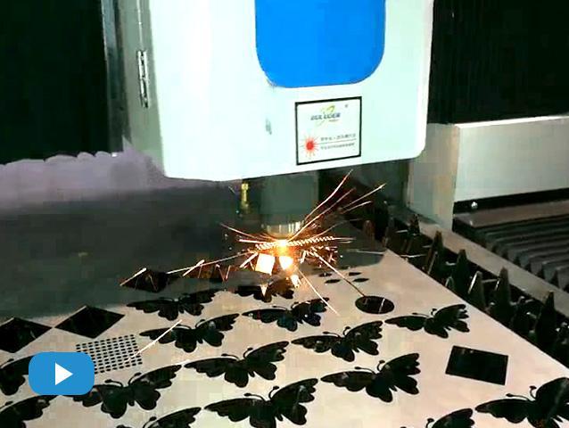 布洛尔光纤激光切割机4015试机视频