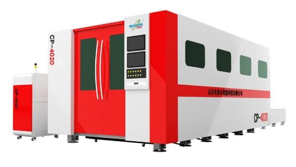 天津客户购买封闭式光纤激光切割机一台